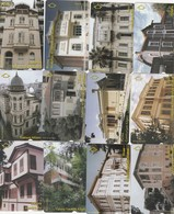 Turkey, TR-TT-N-0408 - 0419, Set Of 12 Cards, Ataturk Residences, 2 Scans,  NB ; Nr 417 Has Some Scratches - Turkije