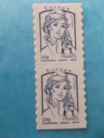 TIMBRE  AUTOADHESIF  No: Paire 852 De CARNET , MARIANNE De CIAPPA ,EUROPE , XX , En Bon état - France