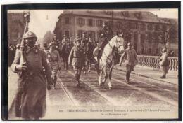 128.BIS.  MILITARIA. STRASBOURG. ENTREE DU GENERAL GOURAUD. A LA TETE DE LA 4eme ARMEE FRANCAISE RECTO/VERSO - Strasbourg