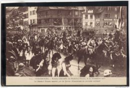 132. MILITARIA. 115. STRASBOURG. ENTREE SOLENNELLE DU MARECHAL PETAIN. LE 25 NOVEMBRE 1918 . RECTO/VERSO . - Strasbourg