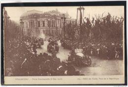 148. MILITARIA. 179. STRASBOURG. VISITE PRESIDENTIELLE . 8 DEC. 1918. RECTO/VERSO . - Strasbourg
