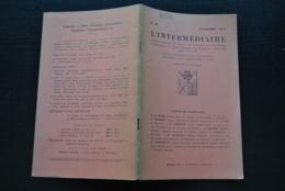 L' INTERMEDIAIRE DES GENEALOGISTES N°36 1951 Généalogie Héraldique STEENEBRUGGEN D'ABCOUDE VAN SANTEN DE SAINTES DE HAL - Histoire