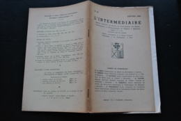 L' INTERMEDIAIRE DES GENEALOGISTES N°37 1952 Généalogie Héraldique STEENEBRUGGEN Sweder D'ABCOUDE GAESBEEK LES BOISOT - Histoire