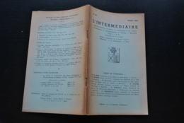 L' INTERMEDIAIRE DES GENEALOGISTES N°38 1952 Généalogie Héraldique Sweder D'ABCOUDE Seigneur GAESBEEK Fondation Pachéco - Histoire