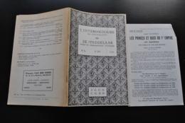 L'INTERMEDIAIRE DES GENEALOGISTES 80 1959 Généalogie Héraldique SUFFRONGELLE Industrie Sucrière Amédée Et Gustave HAMOIR - Histoire