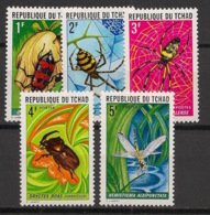 Tchad - 1972 - N°Yv. 245 à 249 - Insectes - Neuf Luxe ** / MNH / Postfrisch - Insectes