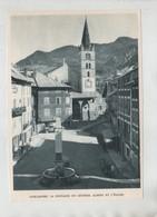 Guillestre La Fontaine Du Général Albert Et L'église - Vecchi Documenti