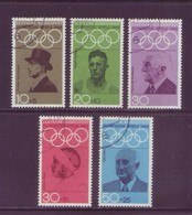 Germania 1968 - Olimpiadi Messico, 5v Annullo Leggero E Rotondo - Summer 1968: Mexico City