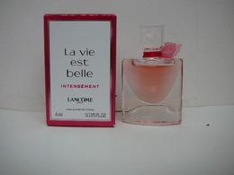 """LANCOME : """" LA VIE EST BELLE INTENSEMENT """" MINI EDP INTENSE 4  ML LIRE ET VOIR !! - Modern Miniatures (from 1961)"""