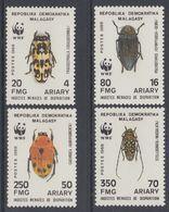 MADAGASCAR 1998 WWF INSECTS BUGS - W.W.F.