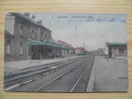 3 Ième  SOMBREFFE  Prés De Brye Et Tongrinne.GARE Du Train. Couleur. Postée 1913 - Sombreffe