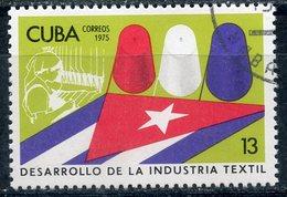 Y85 CUBA 1975 2090 Textile Industry Of Cuba. Flags - Cuba