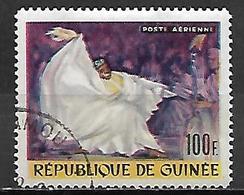 GUINEE   -   Aéros   -  1966  . Y&T N° 61 Oblitéré.    Danse - Guinea (1958-...)