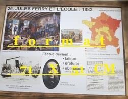 PLANCHE  SCOLAIRE  JULES FERRY L ECOLE  LAIQUE  / PASTEUR  LES GRANDES EPIDEMIES - Mapas