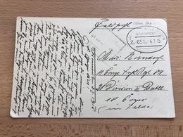 CP Feldpost Allemande Bahnpost Lüttich Trois-Ponts Oval 6 Juillet 1915 Plus Autre Cachet De Chemin De Fer? Peu Lisible R - Guerre 14-18