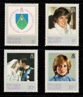 Pitcairn Islands 1982 Princess Diana 21st Birthday Set Of 4 MNH - Briefmarken