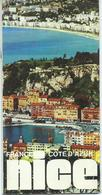 SMALL Tourism Brochures - Bienvenue A Nice / France, - Map Size 5.5 Cm / 11 Cm - Tourism Brochures