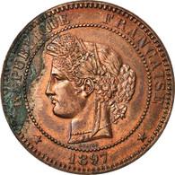 Monnaie, France, Cérès, 10 Centimes, 1897, Paris, SUP, Bronze, Gadoury:265a - D. 10 Centimes