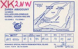 Dollard Des Ormeaux Quebec Canada QSL Radio Card - Carte QSL