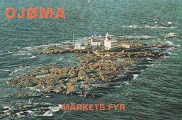 Market Reef Aland Island Sweden QSL Postcard Type Radio Card - Autres