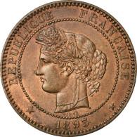 Monnaie, France, Cérès, 10 Centimes, 1893, Paris, SUP+, Bronze, Gadoury:265a - D. 10 Centimes