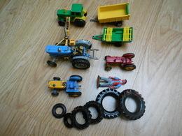 Tracteurs + Remorques Différents Modèles Majorette Husky Matchbox En Assez Bon état - Scale Models