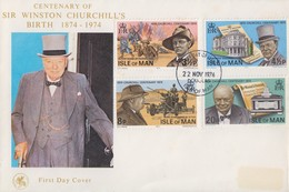 Enveloppe  FDC  1er  Jour   ILE  DE  MAN    Sir   Winston  CHURCHILL    1974 - Sir Winston Churchill
