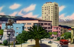 BOLIVIA , T.P. NO CIRCULADA , PLAZA FRANS TAMAYO , MONUMENTO AL MARISCAL SUCRE Y UNIVERSIDAD MAYOR - Bolivia