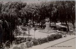 BOLIVIA , T.P. NO CIRCULADA , TUPIZA  - PLAZA Y JARDÍN - Bolivia