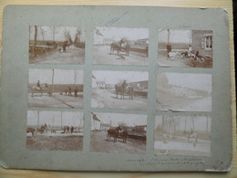 UNIQUE!  9 Anciens Clichés De 1896  (8,5 X 5,8 Cm) Collés Sur Carton Trés Dur   Malterie BRASSERIE  Falmignoul. - Autres