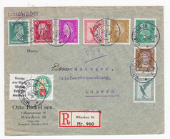 Dt.Reich R-Brief Mit U.a.Nr.W35 Auf Brief In Die Schweiz+AKs - Deutschland