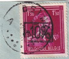 -10% Van Acker 1946 DEINZE [KVM N° 148] 1,5 Fr -afgestempeld DEINZE - 1946 -10%