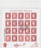 FRANCE 2014 BLOC SALON DU TIMBRE PARIS CERES NON DENTELE OBLITERE F4871 - F 4871 COTE 130 EURO - Blocks & Kleinbögen