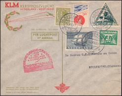 KLM-SNIP-Flug 15.12.34 Amsterdam-Willemstad, Brief Ab S'GRAVENHAGE 12.12.1934 - Posta Aerea