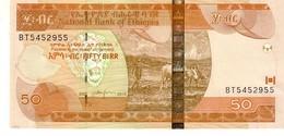 Ethiopia P.51g 50 Birr 2015  Unc - Etiopia