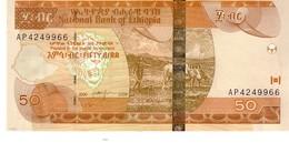 Ethiopia P.51d 50 Birr 2008  Unc - Etiopia