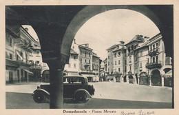 DOMODOSSOLA-VERBANO CUSIO OSSOLA-PIAZZA MERCATO-CARTOLINA  VIAGGIATA 1930-1935 - Verbania