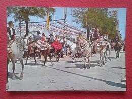POSTAL POST CARD Nº 192 SEVILLA SEVILLE SIVIGLIA FERIA DE ABRIL CABALLOS HORSES TRAJES DE GITANA FAIR LES CHEVAUX....ETC - Sevilla