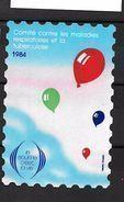 France: Grande Vignette De 12 X 8 Cm Le Souffle C'est La Vie 1984 - Antituberculeux
