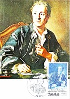 DIDEROT D'après Van Loo - Oblitération & Timbre Paris - Carte Maximum 1984 - Cartes-Maximum