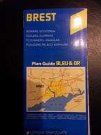 PLAN GUIDE BLEU & OR-BREST BOHARS GOUESNOU GUILERS GUIPAVAS PLOUGASTEL DAOULAS PLOUZANE RELECQ KERHUON - Roadmaps