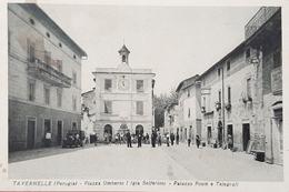 Cartolina Tavernelle - Perugia - Piazza Umberto I - 1919 - Perugia