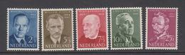 Netherlands 1954 - Michel 636-640 MNH ** - Periodo 1949 - 1980 (Giuliana)