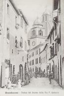 Cartolina Montefiascone - Veduta Del Duomo Dalla Via P. Umberto - 1914 - Viterbo