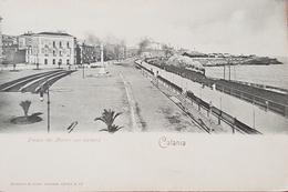 Cartolina Catania - Piazza Dei Martiri Con Parterre - 1902 - Catania