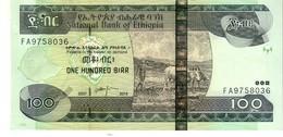 Ethiopia P.52g 100 Birr 2015  Unc - Etiopia