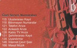 Turkey, TR-TT-N-429, Special Service Numbers-2, 2 Scans. - Turkije