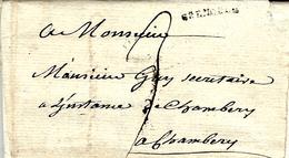 1750- Lettre De GRENOBLE ( Isère )  Lenain N°6  Taxe 3 Sols Pour Chambéry - 1701-1800: Précurseurs XVIII