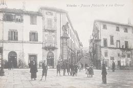 Cartolina Viterbo - Piazza Plebiscito E Via Cavour - 1929 - Viterbo