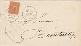 Bono. 1895. Annullo Grande Cerchio BONO, Su Lettera Affrancata Completa Di Testo - 1878-00 Umberto I